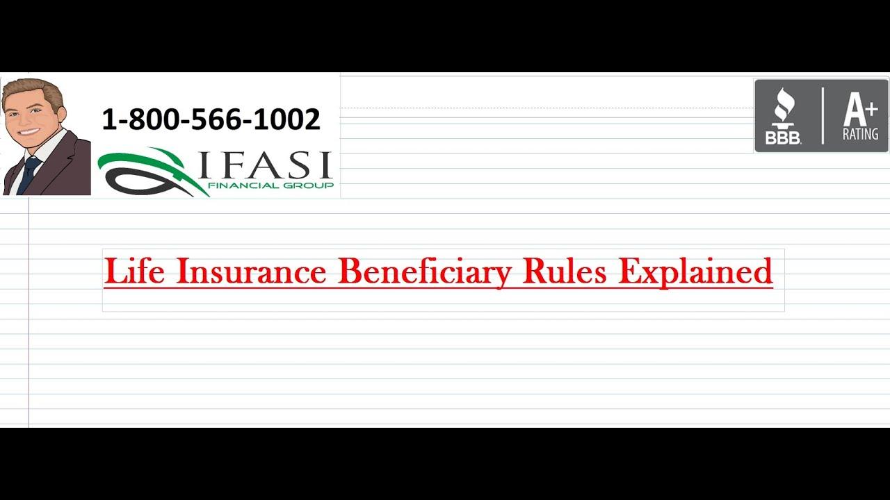 Life Insurance Beneficiary Rules - Life Insurance ...