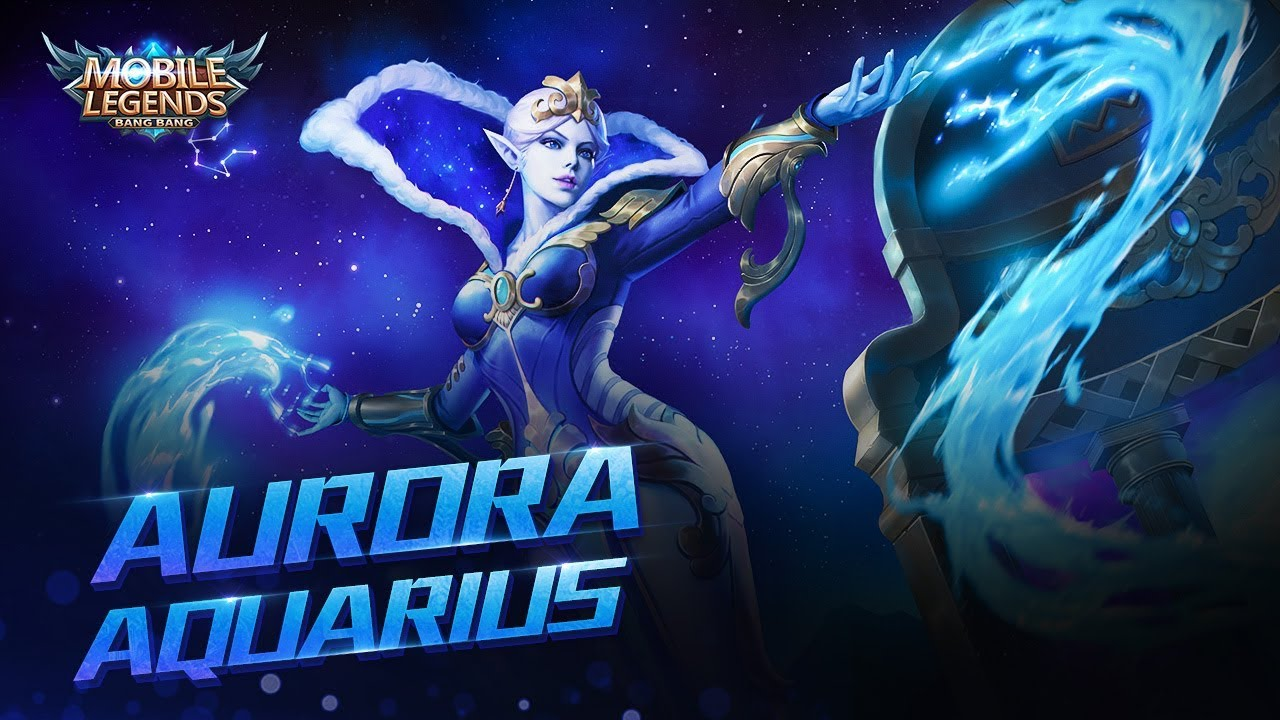 aurora new skin | aquarius| mobile legends: bang bang