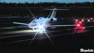 cessna citation 525c cj4 beautiful night departure gloucestershire airport
