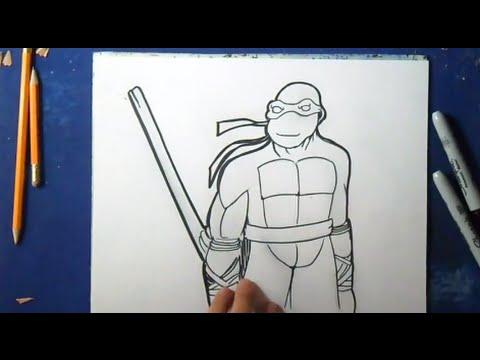 Comment Dessiner Tortue Ninja Youtube
