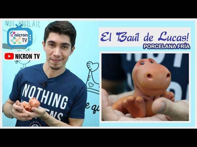 El baúl de Lucas | NICRON TV | Cómo hacer un dinosaurio en porcelana fría | Paso a Paso gratuito