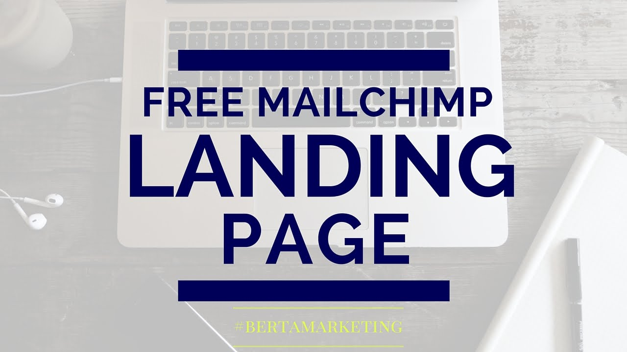how to create a landing page on mailchimp