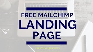 How to Create a Landing Page in Mailchimp - free version #berta tech tip #5(Do you want a spiffy landing page for your opt-in or newsletter but don't want to pay for Instapage or Leadpages? Do you only have the free Mailchimp?, 2016-05-12T03:06:15.000Z)