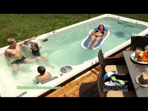 Hydropool Swim Spa by Outdoor Rooms by Design YouTube
