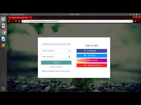 Create Amazing Login Form Using HTML, CSS And Bootstrap   Social Logins Also Available