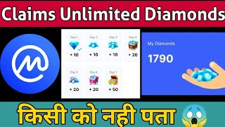 COINMARKET Diamond  claim || unlimited times || Free money Earn || instant payment || 2021