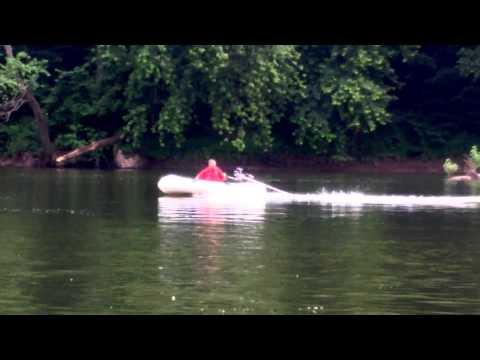 Sea Eagle SE9 Inflatable Boat, Predator 6.5 HP Longtail Mud Motor