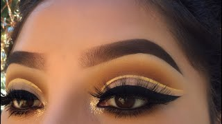 Yellow Gold Cut Crease | Jocy Reyes