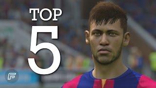 Neymar Jr. - Top 5 Goals for Barcelona 2014/15 (FIFA 15 Remake)