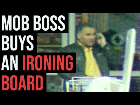 Watch Mafia Boss Antonio Commisso Buy an Ironing Board   'Ndrangheta capo acquista un asse da stiro