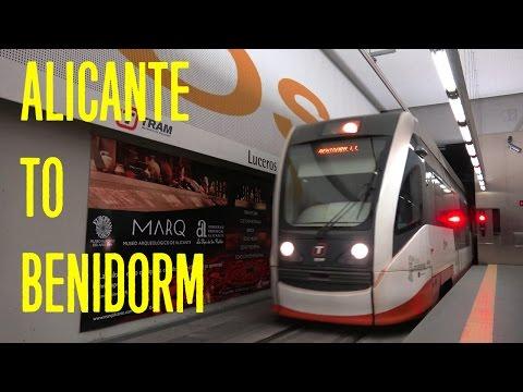 Train Trip From Alicante To Benidorm, Costa Blanca, Spain - TRAM Alicante 4K