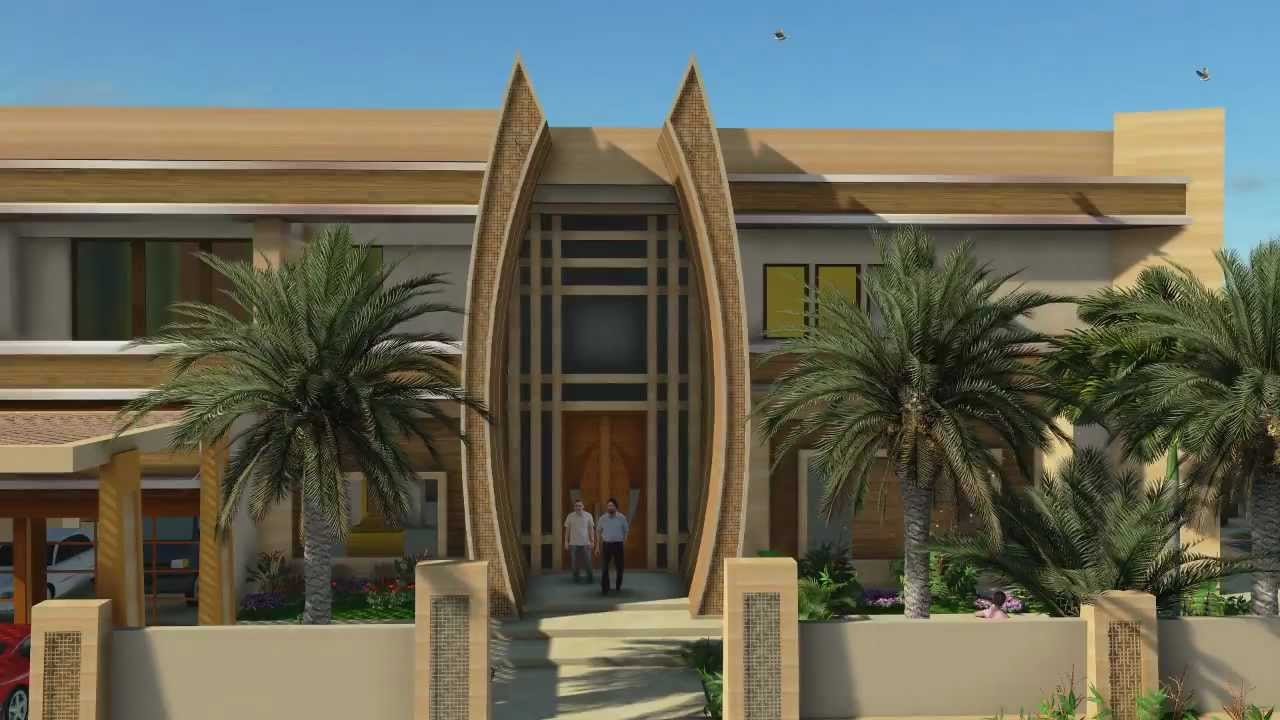 Emirates Hills Dubai exciting modern Villa design by SLDarch - YouTube