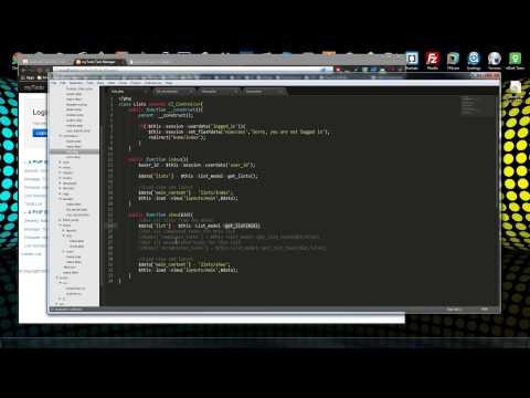 Codeigniter App Part 7 - Models List CRUD