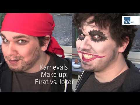 Pirat Joker Reh Und Einhorn Karnevals Make Up Einfach