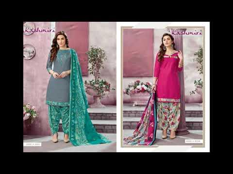 Kashmiri Vol 3 Kavya Salwar Suits Cotton Printed Casual Wear Manufacturer Wholesaler Ahmedabad Surat