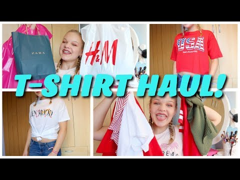 Affordable T-shirt Try On Haul!//H&M, Zara And Vintage Shops~lush leah