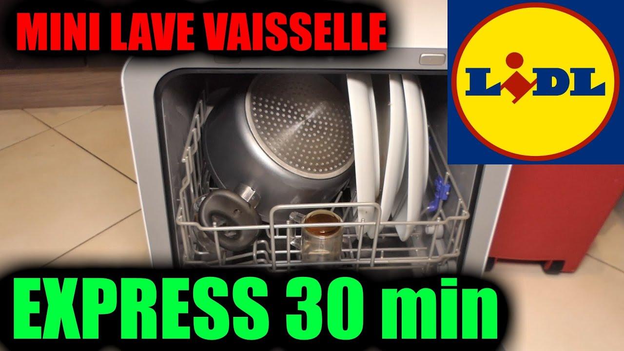 Download MINI LAVE-VAISSELLE LIDL SILVERCREST test du mode express 30 minutes + arrivée d'eau principale