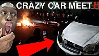 Cars crashed at Houston Texas car meet !