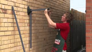 How To Install A Fold Down Clothesline - Diy At Bunnings