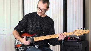 l317 d open string funky bass groove