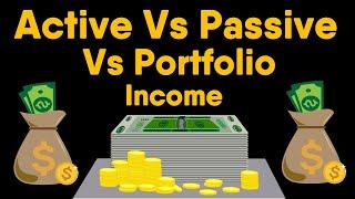 Active Income Vs Passive Income Vs Portfolio Income - Guide | Hindi