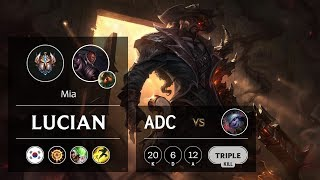 Lucian ADC vs Tristana - KR Challenger Patch 9.9