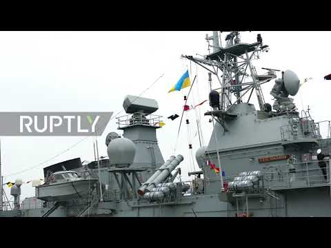 Ukraine: Turkish warships dock at Odessa port