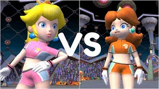 Super Mario Strikers - Peach vs Daisy - GameCube Gameplay (720p60fps)