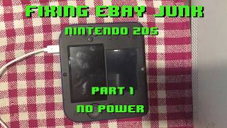 Fixing eBay Junk - Nintendo 2DS No Power - Part 1 - Opening and repair attempt