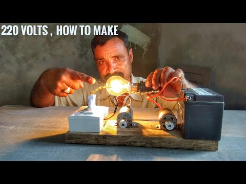 How to make 220v AC using 12 volts DC || Make at your home || very easy process ||