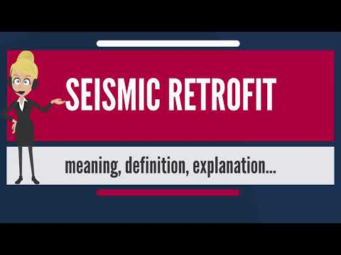 What is SEISMIC RETROFIT? What does SEISMIC RETROFIT mean? SEISMIC RETROFIT meaning & explanation