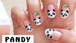 ♦ Wzorki na paznokcie - pandy ♦