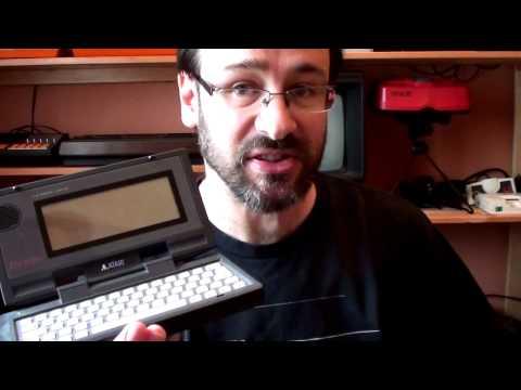 System Overview: Atari Portfolio palm-top computer.