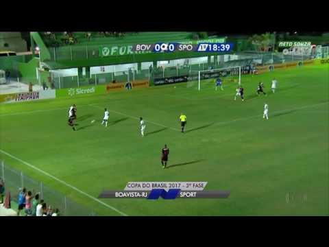 Gols - Boavista 0x3 Sport - Copa do Brasil 2017