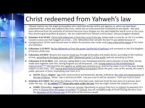 17   Yahweh is an angel not True God - Jan 2017