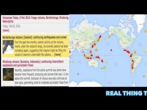 Volcanic Eruptions Worldwide Ring of Fire!!