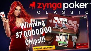 ZYNGA POKER -  WINNING 370M POKER CHIPS!!! (TEXAS HOLD'EM)