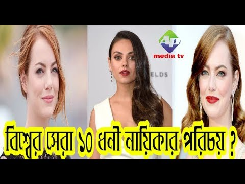 top 10 richest heroine in the world ! - income 2017 # Top Celebrities#