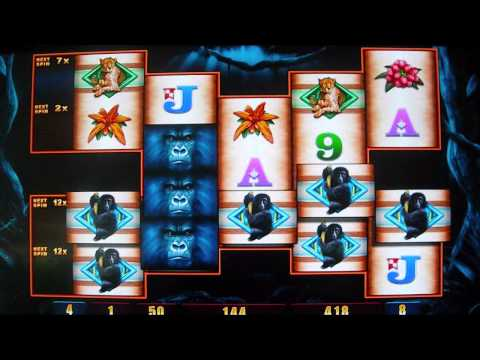Gorilla Chief II NEW GAME Slot Machine Free Spins Bonus Round 2 - 동영상