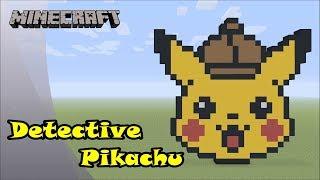 Minecraft: Pixel Art Tutorial and Showcase: Detective Pikachu