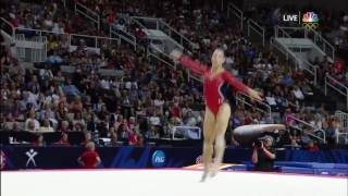 Aly Raisman Floor Exercise 2016 Olympic Trials Day 1