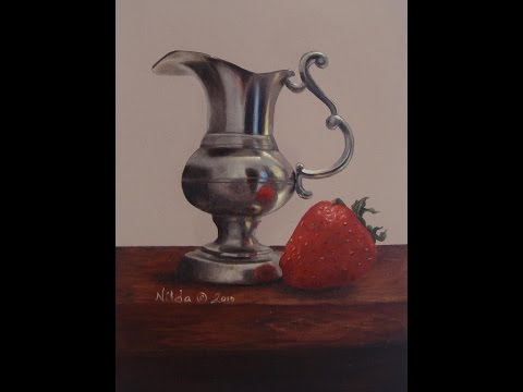 Learn to Paint Strawberry and Cream, Painting Metal