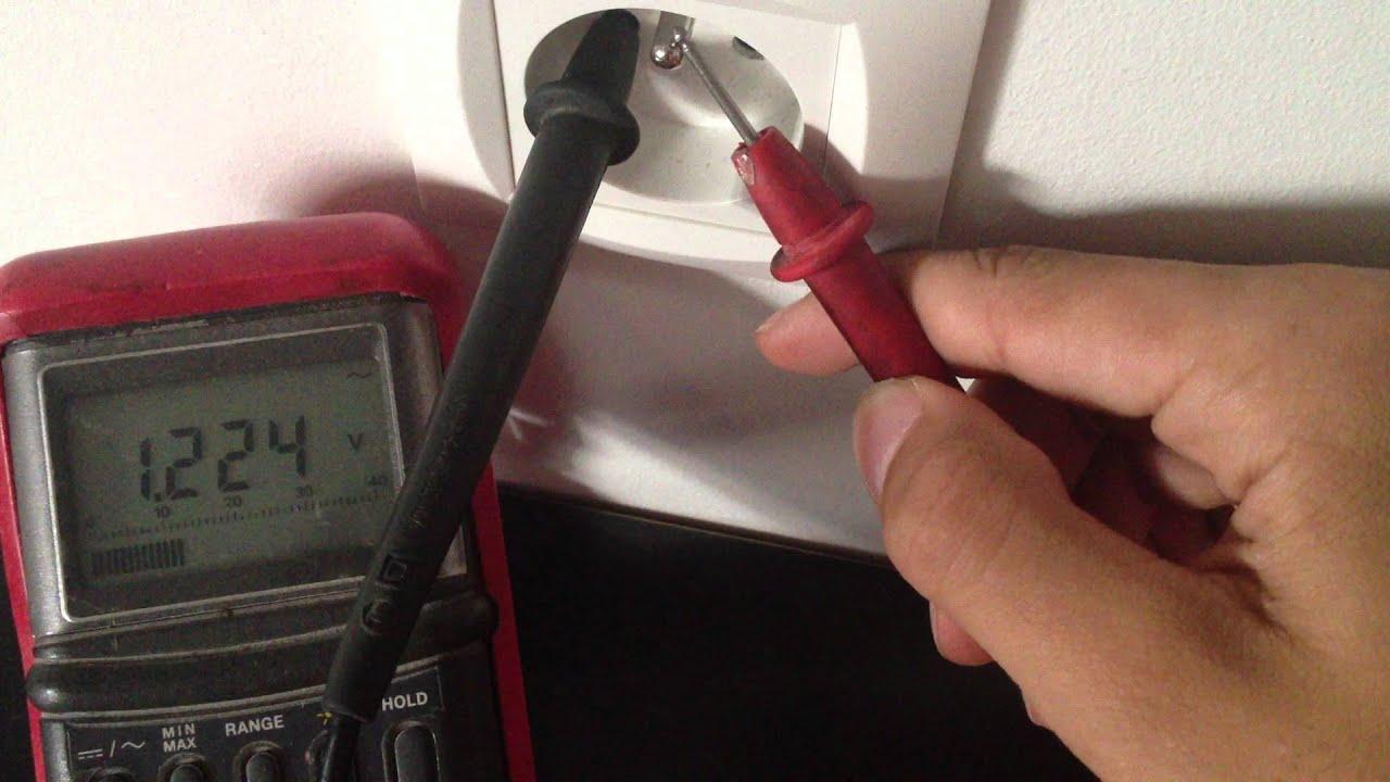 tester prise de terre courant électrique astuce bricolage