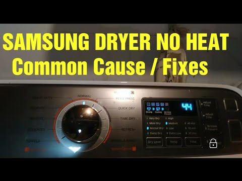Samsung Dryer No Heat Youtube