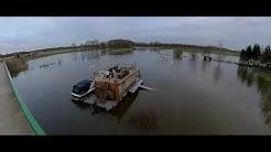 Hochwasser an der Ems - Lingen und Emsbüren (Insta360 One R)