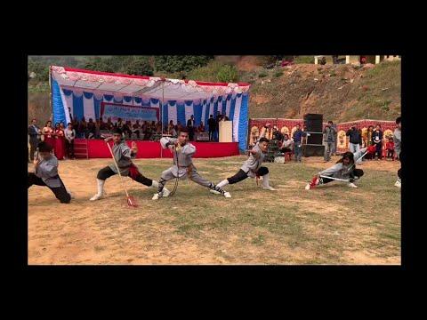 Swoyambhu Kungfu Team Demonstration at Dhading 2020