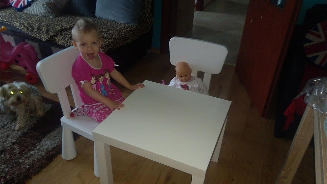 Mamy Nowy Mebel Składamy Stolik I Krzesełka Mammut Ikea White