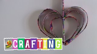 How to Make Duck Tape Hanging Heart Decor with LaurDIY | Valentine
