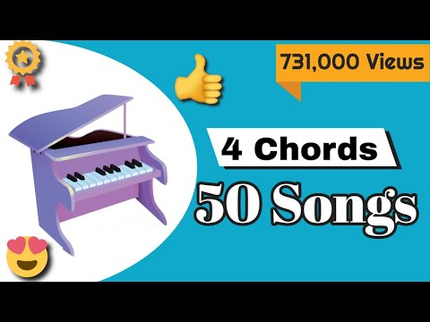 Piano Lessons  50 songs on Piano with just 4 chords  Mashup