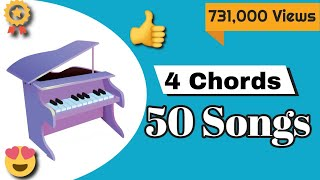50 songs on Piano with just 4 chords (Lesson)